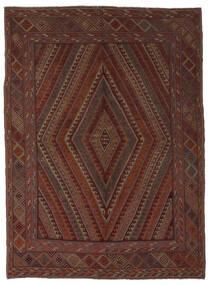 キリム ゴルバリヤスタ 絨毯 206X275 オリエンタル 手織り 黒/濃い茶色 (ウール, アフガニスタン)