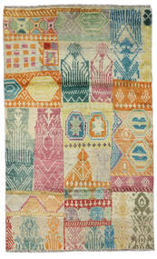 Moroccan Berber - Afghanistan 絨毯 115X191 モダン 手織り 暗めのベージュ色の/ライトグリーン (ウール, アフガニスタン)