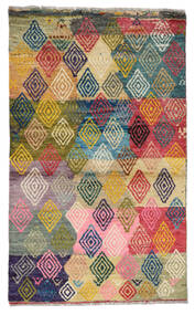 Moroccan Berber - Afghanistan 絨毯 84X140 モダン 手織り 濃いグレー/暗めのベージュ色の (ウール, アフガニスタン)