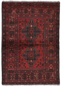 アフガン Khal Mohammadi 絨毯 105X152 オリエンタル 手織り 黒/濃い茶色 (ウール, アフガニスタン)