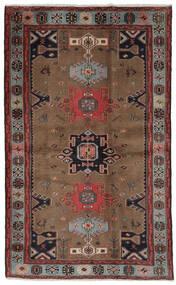 ハマダン 絨毯 121X191 オリエンタル 手織り 濃い茶色/黒 (ウール, ペルシャ/イラン)