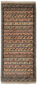 トルクメン 絨毯 86X200 オリエンタル 手織り 廊下 カーペット 濃い茶色/黒/茶 (ウール, ペルシャ/イラン)