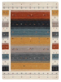Loribaf ルーム Designer - Multi 絨毯 140X200 モダン 黒/濃い茶色 (ウール, インド)
