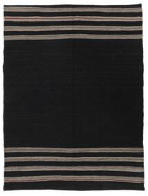 キリム モダン 絨毯 128X170 モダン 手織り 黒 (ウール, アフガニスタン)