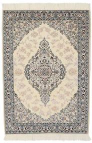 ナイン 9La 絨毯 100X146 オリエンタル 手織り 濃いグレー/薄茶色 (ウール/絹, ペルシャ/イラン)