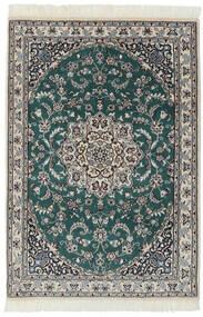 ナイン 9La 絨毯 94X140 オリエンタル 手織り 黒/濃いグレー (ウール/絹, ペルシャ/イラン)