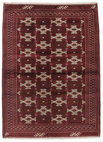 トルクメン 絨毯 103X139 オリエンタル 手織り 黒/濃い茶色 (ウール, ペルシャ/イラン)