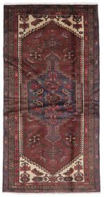 ハマダン 絨毯 105X207 オリエンタル 手織り 黒/濃い茶色 (ウール, ペルシャ/イラン)