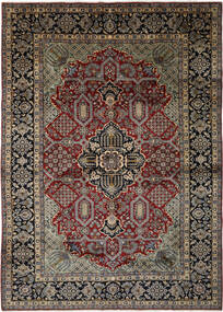 ナジャファバード 絨毯 293X408 オリエンタル 手織り 黒/濃い茶色 大きな (ウール, ペルシャ/イラン)