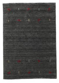 ギャッベ ルーム Two Lines - 二級品 絨毯 140X200 モダン 黒/ベージュ (ウール, インド)