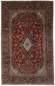 カシャン 絨毯 194X307 オリエンタル 手織り 黒/濃い茶色 (ウール, ペルシャ/イラン)