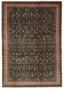Shabargan 絨毯 204X281 モダン 手織り 黒/濃い茶色 (ウール, アフガニスタン)