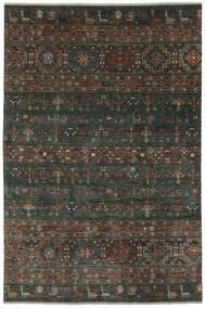 Shabargan 絨毯 208X315 モダン 手織り 黒/濃い茶色 (ウール, アフガニスタン)