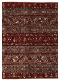 Shabargan 絨毯 183X248 モダン 手織り 黒/濃い茶色 (ウール, アフガニスタン)