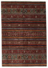 Shabargan 絨毯 180X259 モダン 手織り 黒/濃い茶色 (ウール, アフガニスタン)