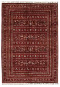 Shabargan 絨毯 176X248 モダン 手織り 黒/濃い茶色 (ウール, アフガニスタン)