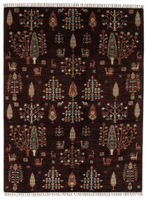 Shabargan 絨毯 176X236 モダン 手織り 黒/濃い茶色 (ウール, アフガニスタン)