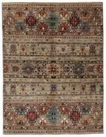 Shabargan 絨毯 157X206 モダン 手織り 濃い茶色/黒 (ウール, アフガニスタン)