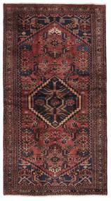 ハマダン 絨毯 115X210 オリエンタル 手織り 黒/濃い茶色 (ウール, ペルシャ/イラン)