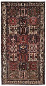 バクティアリ 絨毯 157X297 オリエンタル 手織り 廊下 カーペット 黒/濃い茶色 (ウール, ペルシャ/イラン)