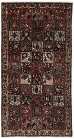 バクティアリ 絨毯 161X306 オリエンタル 手織り 廊下 カーペット 黒/濃い茶色 (ウール, ペルシャ/イラン)