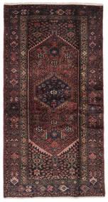 ハマダン 絨毯 106X205 オリエンタル 手織り 黒/濃い茶色 (ウール, ペルシャ/イラン)