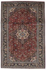 ナジャファバード 絨毯 210X314 オリエンタル 手織り 黒/濃い茶色 (ウール, ペルシャ/イラン)
