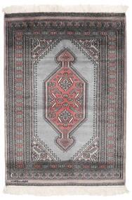 パキスタン ブハラ 2Ply 絨毯 84X120 オリエンタル 手織り 黒/濃い茶色 (ウール, パキスタン)