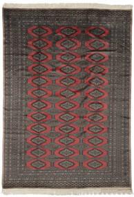 パキスタン ブハラ 2Ply 絨毯 190X263 オリエンタル 手織り 黒/濃い茶色 (ウール, パキスタン)