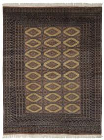 パキスタン ブハラ 2Ply 絨毯 191X244 オリエンタル 手織り 黒/濃い茶色 (ウール, パキスタン)