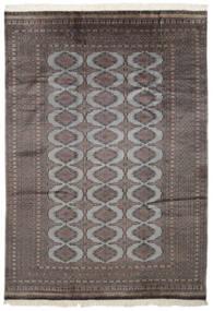 パキスタン ブハラ 2Ply 絨毯 186X262 オリエンタル 手織り 黒/濃いグレー (ウール, パキスタン)
