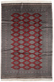 パキスタン ブハラ 2Ply 絨毯 186X261 オリエンタル 手織り 黒/濃い茶色 (ウール, パキスタン)