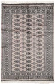 パキスタン ブハラ 2Ply 絨毯 125X189 オリエンタル 手織り 濃いグレー/黒 (ウール, パキスタン)