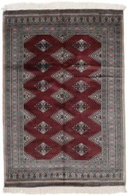 パキスタン ブハラ 2Ply 絨毯 125X180 オリエンタル 手織り 黒 (ウール, パキスタン)
