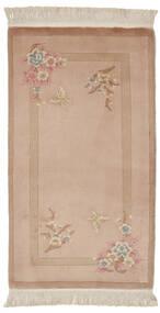 中国 90 Line 絨毯 76X140 オリエンタル 手織り 茶/ベージュ (ウール, 中国)