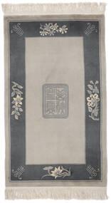 中国 90 Line 絨毯 91X151 オリエンタル 手織り 薄茶色/黒 (ウール, 中国)