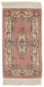 中国 90 Line 絨毯 70X122 オリエンタル 手織り 濃い茶色/深紅色の (ウール, 中国)