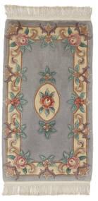 中国 90 Line 絨毯 69X122 オリエンタル 手織り 濃いグレー/ベージュ (ウール, 中国)