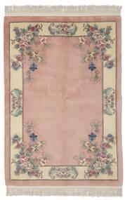 中国 90 Line 絨毯 140X200 オリエンタル 手織り 深紅色の/薄茶色 (ウール, 中国)