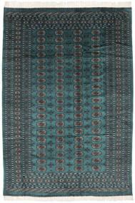 パキスタン ブハラ 2Ply 絨毯 190X277 オリエンタル 手織り 黒/ターコイズ (ウール, パキスタン)