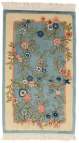 中国 90 Line 絨毯 91X152 オリエンタル 手織り ターコイズ/ベージュ (ウール, 中国)