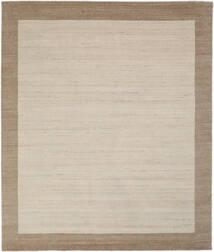 ハンドルーム Frame - ナチュラル/砂色 絨毯 250X300 モダン 薄茶色/薄い灰色/濃い茶色 大きな (ウール, インド)