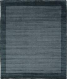 ハンドルーム Frame - Petrol 青 絨毯 250X300 モダン 黒/紺色の 大きな (ウール, インド)