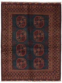 アフガン 絨毯 152X195 オリエンタル 手織り 黒/濃い茶色 (ウール, アフガニスタン)