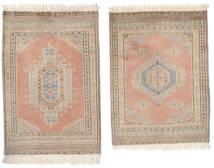 パキスタン ブハラ 2Ply 絨毯 62X92 オリエンタル 手織り 茶/ベージュ (ウール, パキスタン)