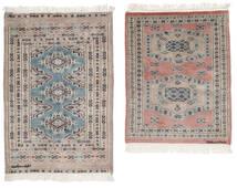 パキスタン ブハラ 2Ply 絨毯 62X77 オリエンタル 手織り ホワイト/クリーム色/濃い茶色 (ウール, パキスタン)