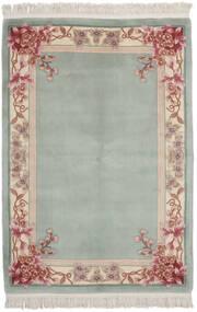 中国 90 Line 絨毯 137X198 オリエンタル 手織り 深緑色の/オリーブ色 (ウール, 中国)
