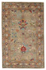 Ziegler Ariana 絨毯 81X128 オリエンタル 手織り 濃い茶色/ベージュ (ウール, アフガニスタン)