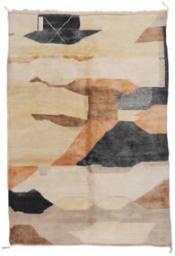Berber Moroccan - Mid Atlas 絨毯 203X296 モダン 手織り 薄茶色/茶 (ウール, モロッコ)
