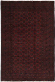 アフガン 絨毯 194X295 オリエンタル 手織り 黒 (ウール, アフガニスタン)